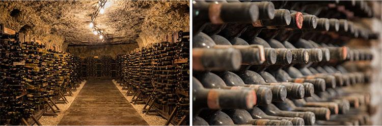 ワイナリーの地下のカーヴ(洞窟・地下蔵)で長期間保存