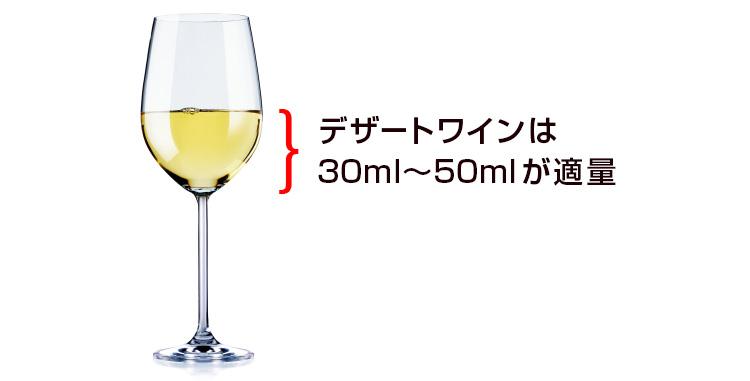 デザートワインの1杯の量の目安