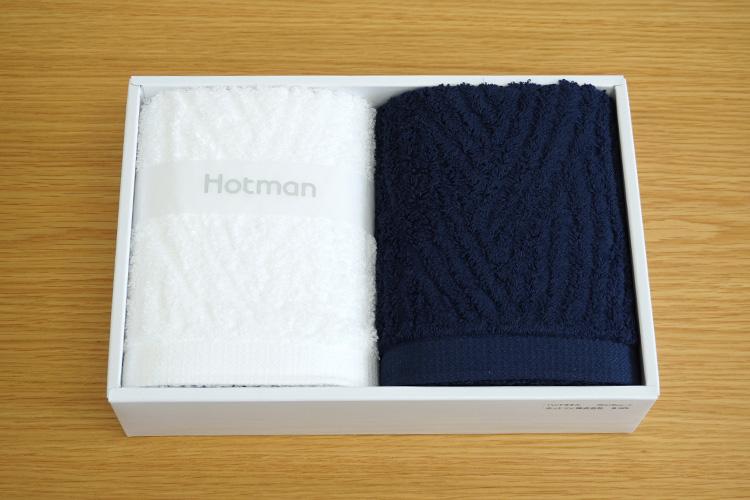 ホットマン「1秒タオル『カレント』シリーズ ハンドタオル2枚セット」