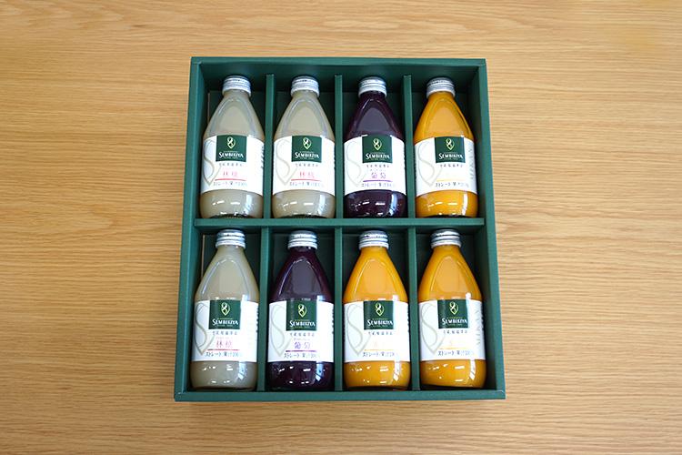 千疋屋ストレートジュース「ストレートジュース(果汁100%)詰合 8本入」